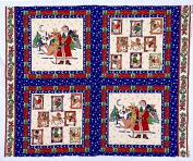"""Santa, Rudolph & Reindeer """"Merry Christmas"""" Fabric Pillow Panel (Great for Quilting, Sewing, Craft Projects, Throw Pillows & More) 90cm X 110cm"""