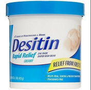 Desitin Nappy Rash Cream Rapid Relief, 470ml Jar New