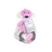 Carter's Flamingo Bath Toy and Washcloths