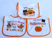 Baby Essentials 3 Halloween Feeder Bibs Trick or Treat Im so Sweet