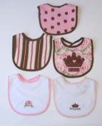 Baby Essentials 5 Bibs for Newborn 'Royalty'