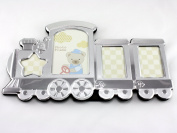 Skyway Baby Train Photo Picture Frame Keepsake Silver - Engravable