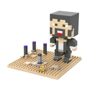 LOZ Diamond Mini Overworld Desert Steve 9471 Toys Figures DIY Building Blocks Toys -230pcs