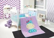 "Hippo ""Trixy"" Baby Crib Bedding Nursery Set 6pcs Limited Edition"