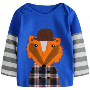 Baby Box Baby Boys' kids Toddler long sleeve wolf T-Shirts