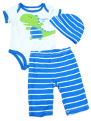 First Impressions Infant Boys Daddy's Boy Dinosaur Creeper Pants & Hat Set 0-3m