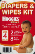 Uni's Plus Nappies and Wipes Kit Huggies Snug and Dry Puretouch Tush Wipes Size 4