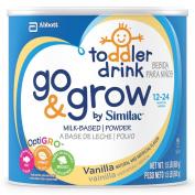 Similac Go & Grow Vanilla, Milk Based Toddler Drink with Iron, Powder, 710mls