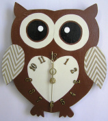 Nursery Owl Clock, Nursery Owl Hanging Clock, Children's Room Wall Clock, Owl Wall Clock, Kid's Room Owl Wall Clock