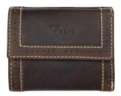 Dark Brown Strong Leather Compact Sized Wallet Pedro Whole Made of Natural Genuine Leather