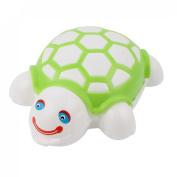 Plastic Tortoise Shape Push Roller Cleaning Brush for Carpet Mat Green