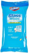 Clorox Glass Wipes, 7 x 8, Radiant Clean, White, 32 Ct