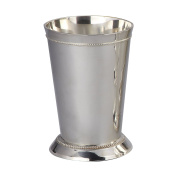 Elegance Silver 90371 Silver Plated Beaded Mint Julep Cup, 350ml
