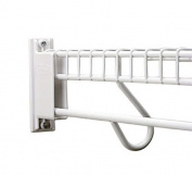 Rubbermaid Direct Mount Non-Adjustable Free Slide Wall Bracket, White