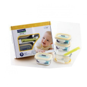 Glasslock Kitchen Food Containers Storage Baby Meal Set Non-Toxic Tempered Glass