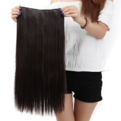 "Sexy Forever 30""(76cm) Straight Dark Brown Hairpiece 3/4 Full Head One Piece 5 Clips Clip In Hair Extensions Elegant Useful for Gifts"