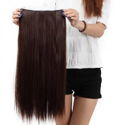 """Sexy Forever 30""""(76cm) Straight Medium Brown Hairpiece 3/4 Full Head One Piece 5 Clips Clip In Hair Extensions Elegant Useful for Gifts"""