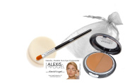 Best Complete 2 Step Skin Care Concealer Makeup Kit - Alexis Vogel Delete Delete Kit - Includes Delete Delete Under Eye Concealer Duo Compact with Angel Puff and Concealer Brush - Available in 3 Shades - Conceals Acne, Dark Circles, Bags Under Eyes, Wr ..
