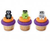 Monsterbot Robot Cupcake Rings Halloween Party Favours