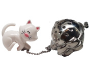 Joie Meow Cat Kitten Tea Cup Infuser, White