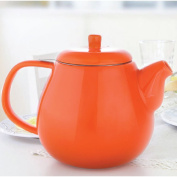 Drago Ceramic Teapot w/ Stainless Steel Lid & Extra-Fine Infuser - #1 Best Teapot To Brew Loose Leaf Tea by Tealyra