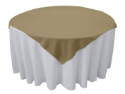 Tablecloth Polyester Overlay Square 230cm Beige By Broward Linens