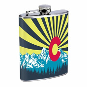 Perfection In Style Stainless Steel Flask Colorado Flag Design 007 240ml