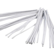 Lot of 48 White Chenille Craft Stems 30cm Pipe Cleaners School Project