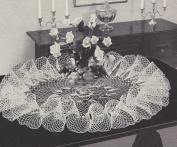 Vintage Crochet PATTERN to make - Victorian Ruffled Table Doily Mat Centrepiece Large. NOT a finished item. This is a pattern and/or instructions to make the item only.