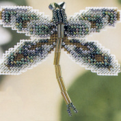 Willow Dragonfly Beaded Counted Cross Stitch Ornament Kit Mill Hill 2000 Spring Bouquet MHDF6