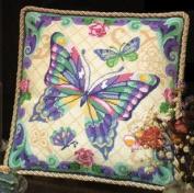 Fantasy Butterfly Pillow - Needlepoint Kit