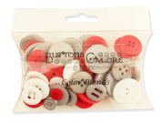 Buttons Galore Colour Blend Buttons, 90ml, Grey/Black/White