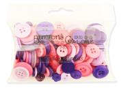 Buttons Galore Colour Blend Buttons, 90ml, Purple/Lavender/Bright Pink