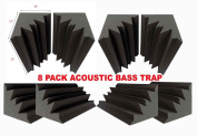Mybecca Acoustic Foam Bass Trap Studio Soundproofing for Wall Corners 30cm x 30cm x 30cm
