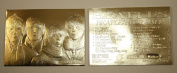 BEATLES FOR SALE Album Cover Sculpted 23KT Gold Card NM-MT Serial Numbered