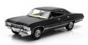"1967 Chevrolet Impala Sport Sedan Black 4 Doors ""Supernatural"" (TV Series 2005) With Ohio Licence Plate 1/18 by Greenlight 19014"