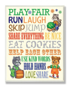The Kids Room by Stupell Wall Decor, Play Fair Woodland Animal