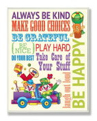 The Kids Room by Stupell Wall Decor, Always Be Kind Colourful Clowns