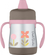 DwellStudio for Thermos, Vacuum Insulated Stainless Steel Sippy Cup, Rosette, 210ml