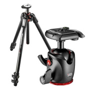 Manfrotto MT055CXPRO3 Carbon Fibre 3 Sections Tripod with Horizontal Column, 9kg Load Capacity, 170cm Maximum Height - Bundle With Manfrotto MHXPRO-BHQ2 XPRO Ball Head with Quick-Release