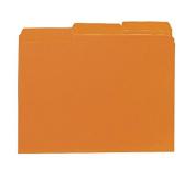 Smead Interior File Folder, 1/3-Cut Tab, Letter Size, Orange, 100 per Box