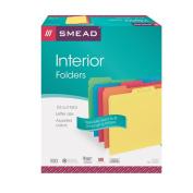 Smead Interior File Folder, 1/3-Cut Tab, Letter Size, Assorted Colours, 100 per Box