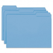 Smead Interior File Folder, 1/3-Cut Tab, Letter Size, Blue, 100 per Box