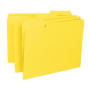 Smead Interior File Folder, 1/3-Cut Tab, Letter Size, Yellow, 100 per Box