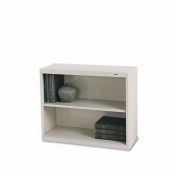 Tennsco B30PY 34-1/2 by 34cm by 70cm Metal Bookcase with 2 Shelves, Putty