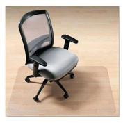 deflecto CM2G232PET EnvironMat Recycled Anytime Use Chair Mat for Hard Floor, 110cm x 130cm with Lip, Clear