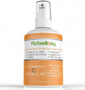 Retseliney Vitamin C Serum for Face, Anti Ageing & Anti Wrinkle Serum, Repairs Sun Damage, Age, Dark & Brown Spots, Skin Discoloration, 20% C Serum for Skin & Eyes + Vegan Hyaluronic Acid & Vitamin E
