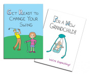 Dad's Castle Pregnancy Announcement - Grandparents Card, Changing Swing