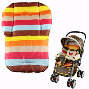 GigaMax(TM) baby stroller cushion striped pad pram baby car seat cushion general cotton mat