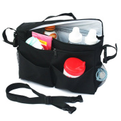 Polyester Vinyl Stroller Insulated Waterproof Storage Compartment Organiser Bag